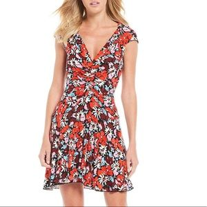 NWT Free People Floral Mini Ribbed Dress Size XS